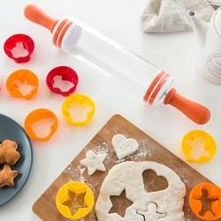 Скалка с Формочками для Печенья (9 предметов)