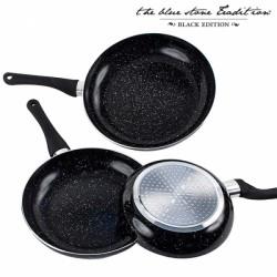 Набор сковород из черного камня Black Stone (3 штуки)