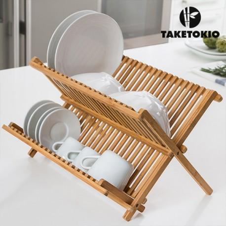 Nõudekuivatusrest bambusest