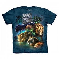 3D prindiga T-särk Cats Jungle