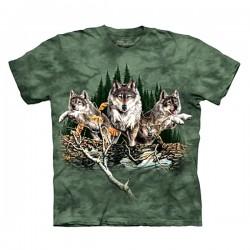 футболка с 3D принтом 12 Wolves