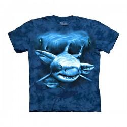 3D prindiga T-särk lastele Shark Moon Eyes