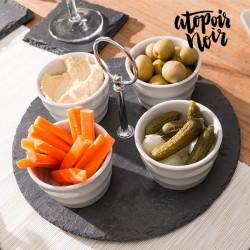 Kivist serveerimiskomplekt Atopoir Noir