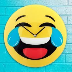 стеклянные Настенные Часы Laughing Emoji