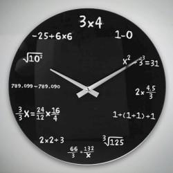стеклянные Настенные Часы MATHS