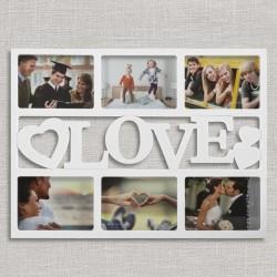 Pildiraam LOVE & HEARTS (6pilti)