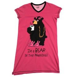 V-kaelusega öösärk Bear in the Morning