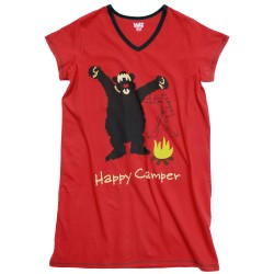 V-kaelusega öösärk Happy Camper
