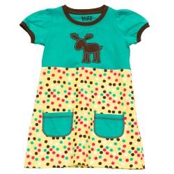 детское платье из хлопка Moose