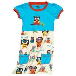 puuvillane laste kleit Owl