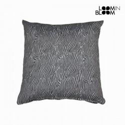 Большая серая подушка Zebra, 60 x 60см