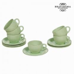 12-osaline roheline serviis Vintage