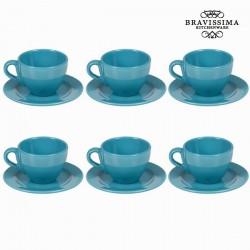 12-osaline sinine Serviis Simple