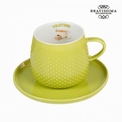 heleroheline Kruus Coffee alustaldrikuga