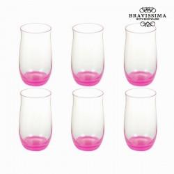 roosade Klaaside komplekt Crystal, 6tk