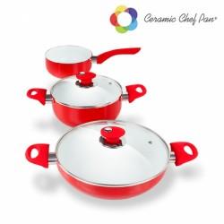 5-osaline keraamilisete küpsetusnõude komplekt  Chef Pan
