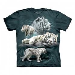 3D prindiga T-särk lastele White Tiger Collage