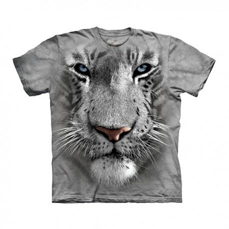 3D prindiga T-särk lastele White Tiger
