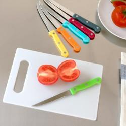 цветные Ножи с Разделочной Доской