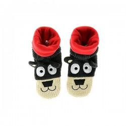 Вязанные Носки-Тапочки для малышей Медвежонок