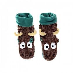 Вязанные Носки-Тапочки для малышей Лосёнок