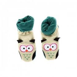 Вязанные Носки-Тапочки для малышей Совёнок