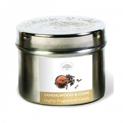 Lõhnaküünal metallpurgis - Sandlipuu & Nelk