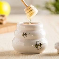 Керамический Горшочек для мёда с деревянной ложкой