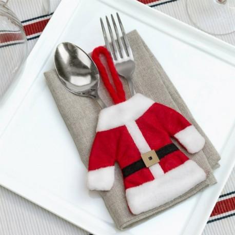 Jõuluvana kostüüm söögiriistadele