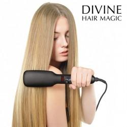 Щетка -электрический выпрямитель волос iondict divine hair  magic