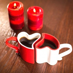 Кружки для влюбленных (красная и белая)