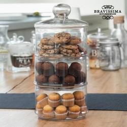 Трехуроневая стеклянная банка XL Bravissima Kitchen