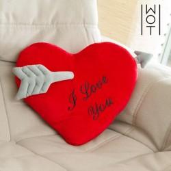 Мягкое сердечко I Love You 35 см