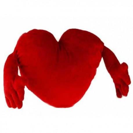 Pehme südameke Kätega 30cm