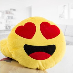 Dekoratiivpadi Emoji Hearts