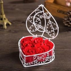 сувенирное мыло 6 Роз (в белый корзине)