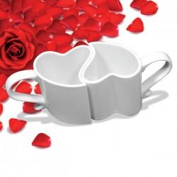 белые Кружки для влюбленных (2шт)