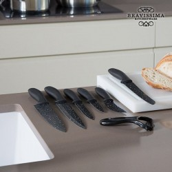 Профессиональные Ножи с Каменным покрытием (7шт)
