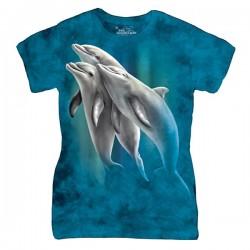 3D prindiga naiste T-särk Three Dolphins
