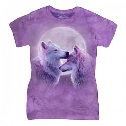 женская футболка с 3D принтом Loving Wolves
