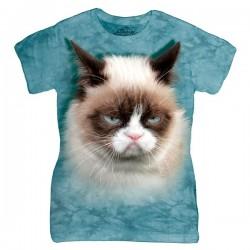3D prindiga naiste T-särk Grumpy Cat