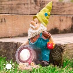 Декоративный Гномик для Сада на Солнечной Батарее