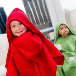 Kapuutsi ja Varrukatega laste Pleed DELUXE, punane