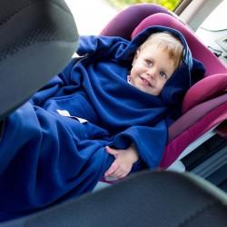 Детское Одеяло DELUXE с Рукавами и Капюшоном, синее