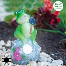 Декоративный Лягушонок на Солнечной Батарее