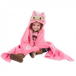 Kapuutsiga tekk-mänguasi Pink Horse