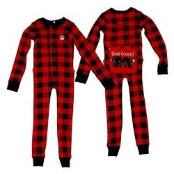 laste pidžaama Flapjack Plaid Bear