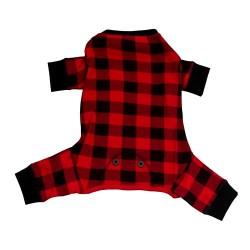 Пижама для собак Red Plaid