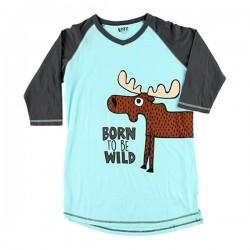 Длинная женская футболка Wild