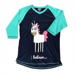 Длинная женская футболка Unicorn